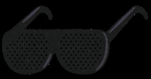ピンホールメガネ ダイソー 視力 回復 眼精疲労